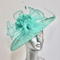 Statement Mother of  Bride Hatinator in Sea Green 15776A/SD759